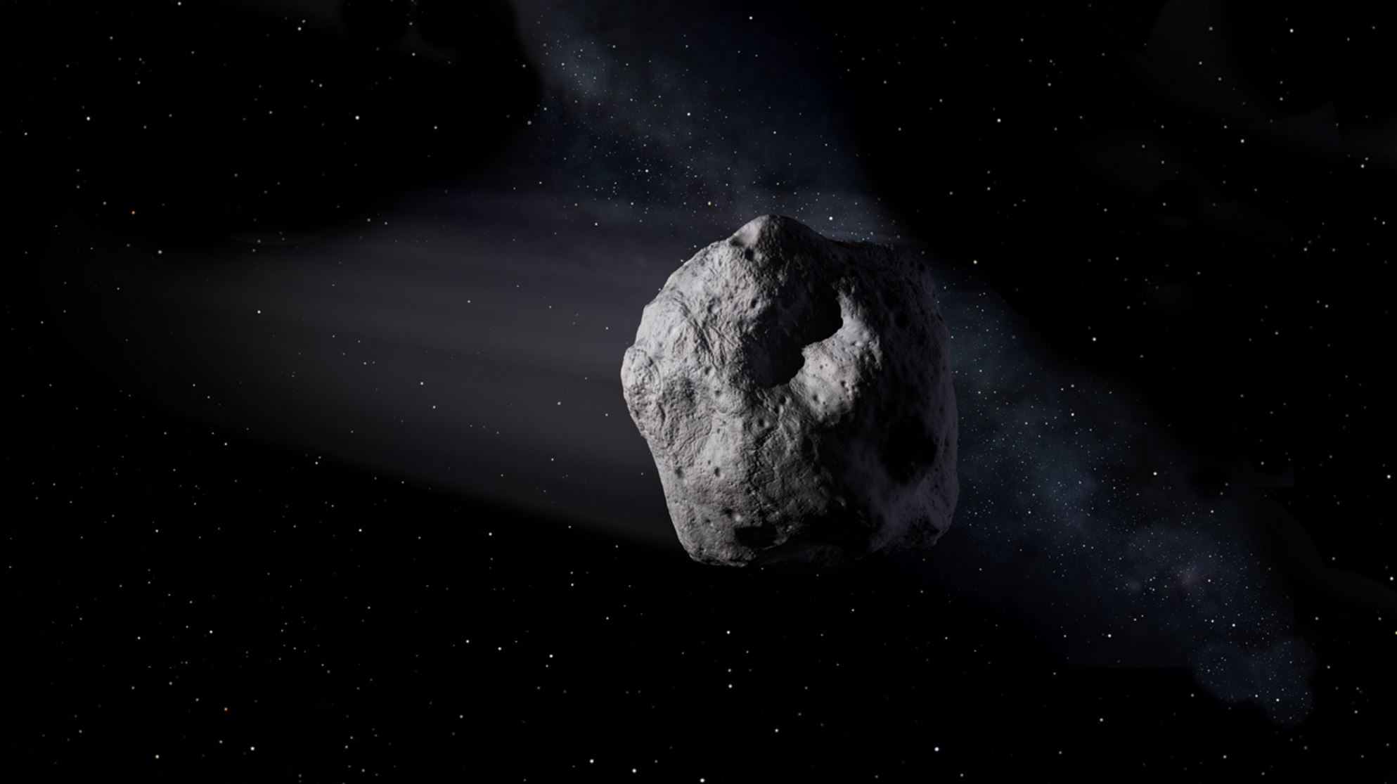 Artist's impression of an asteroid - Image Credit: NASA / JPL
