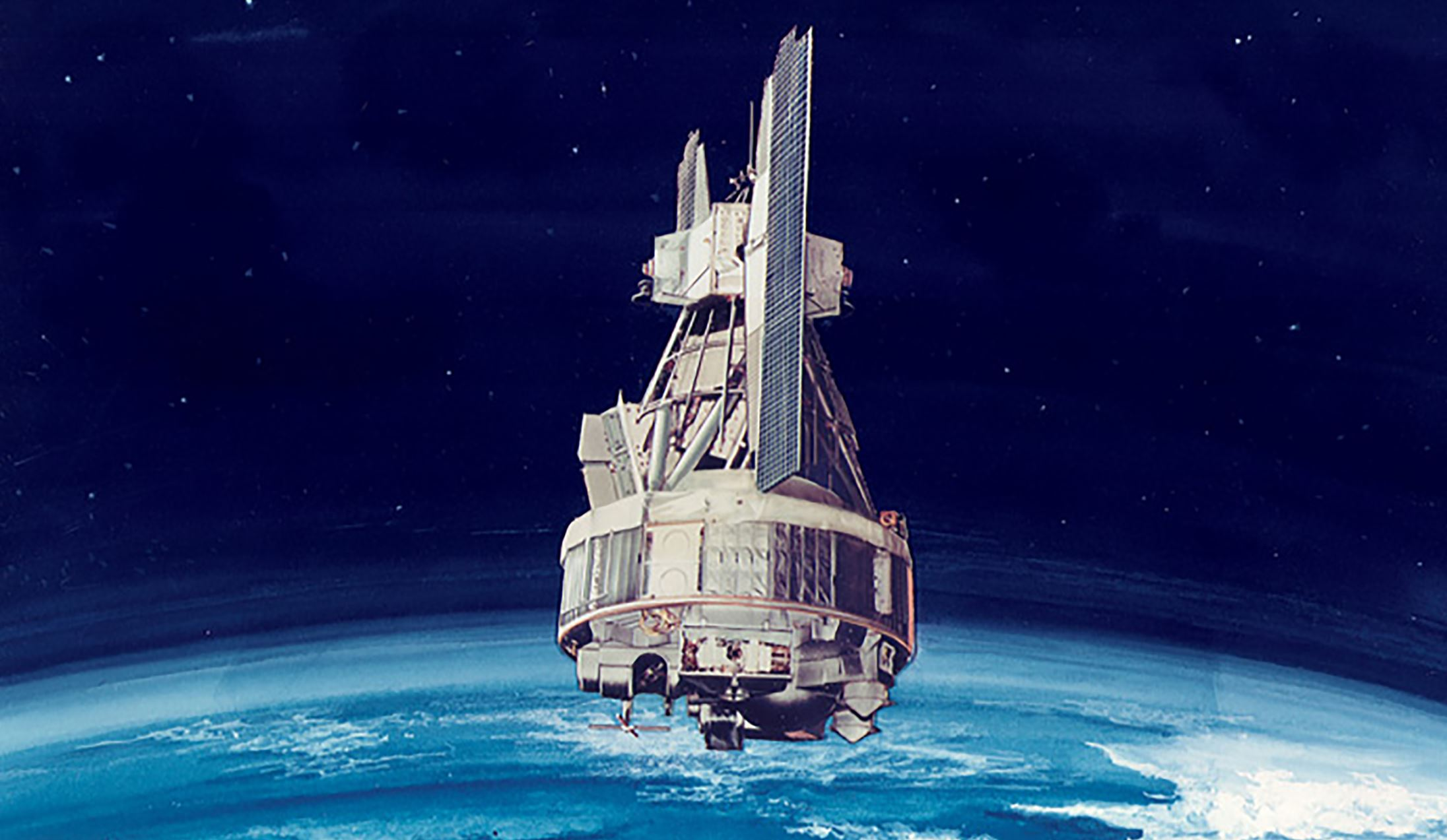 Artist's rendering of the Nimbus-3 spacecraft. - Image Credit: Credits: NASA