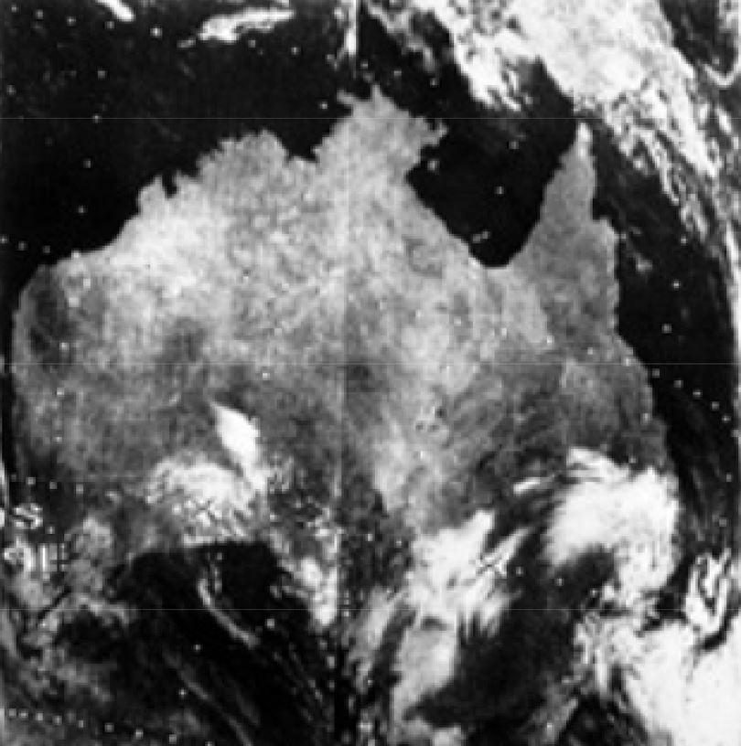Nimbus-3 view of Australia from 1969. - Image Credits: NASA