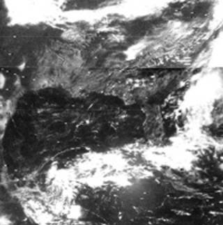 Nimbus-3 image showing clouds over the southeastern U.S. - Image Credits: NASA