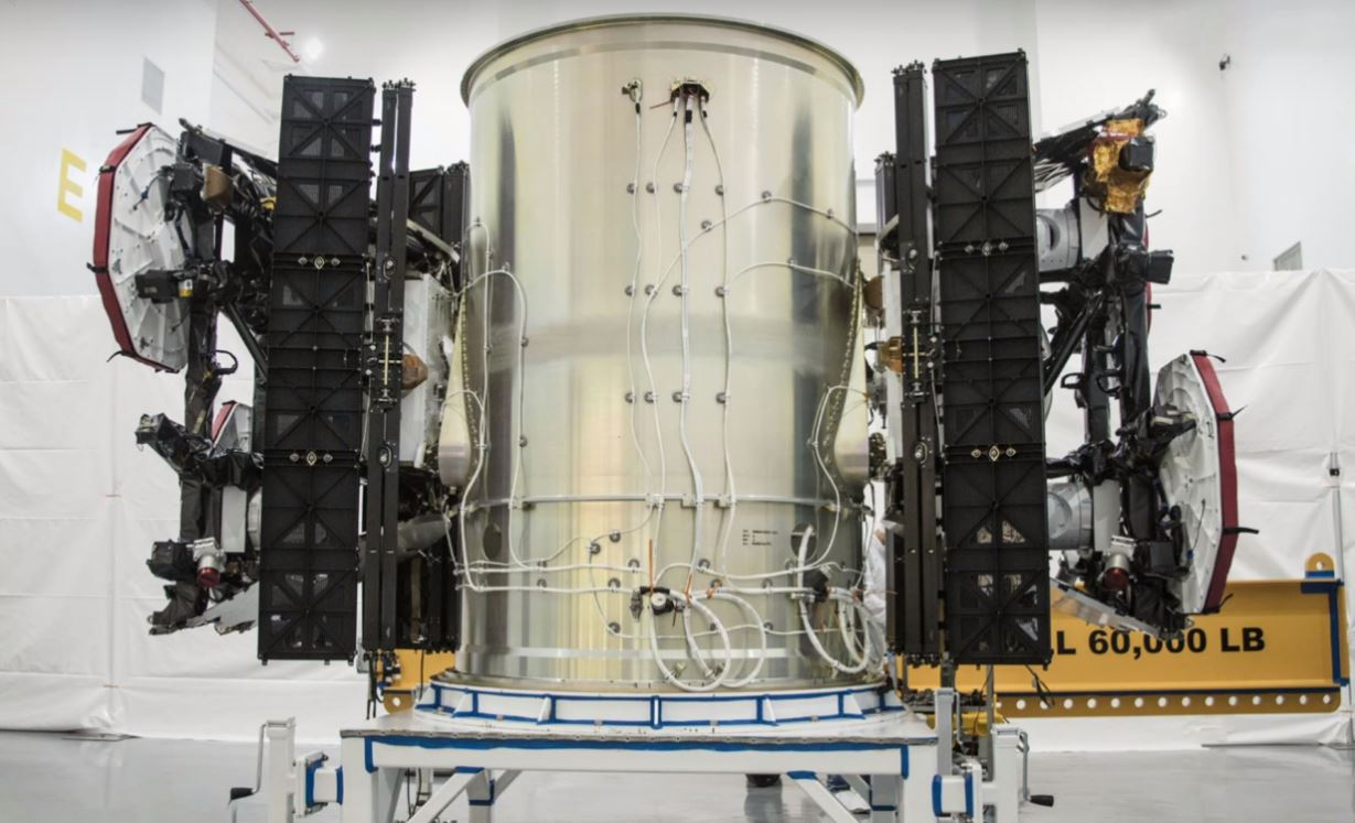 SpaceX's first two Starlink prototype satellites are pictured here before their inaugural launch, showing off a thoroughly utilitarian bus and several advanced components. - Image Credit: SpaceX