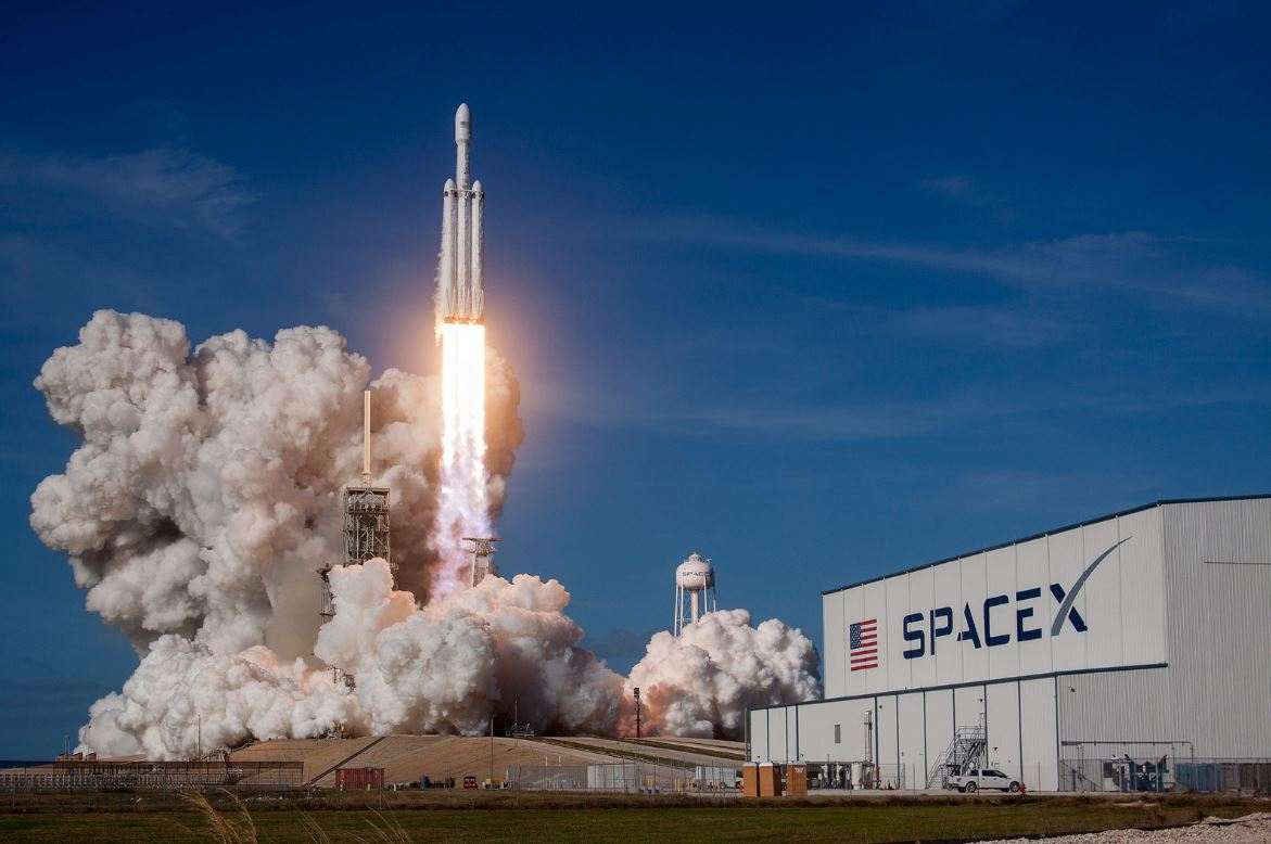 Falcon heavy launch - Image Credit:  SpaceX via flickr