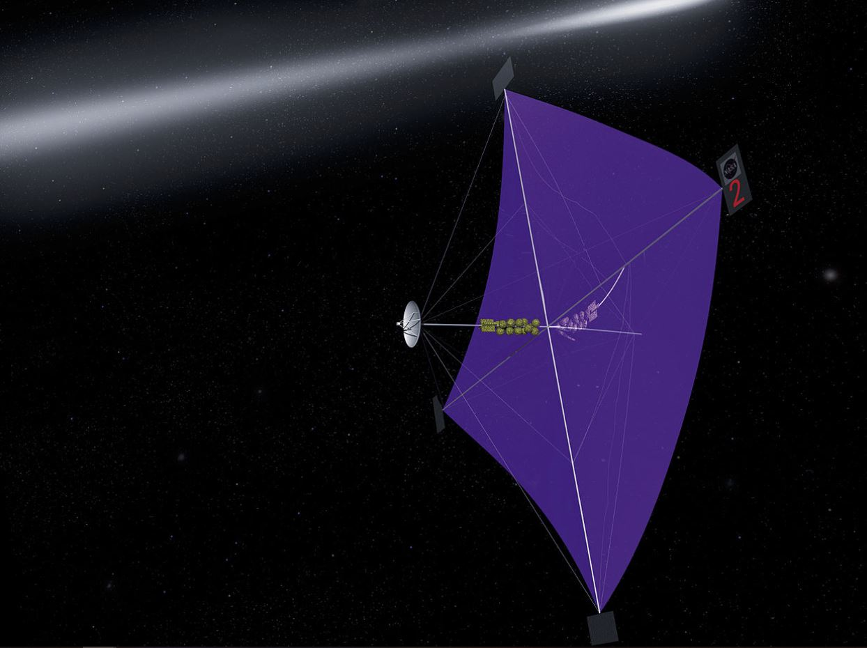 An artist's concept of a space sail. - Image Credit:  NASA/Marshall Space Flight Center via Wikimedia Commons