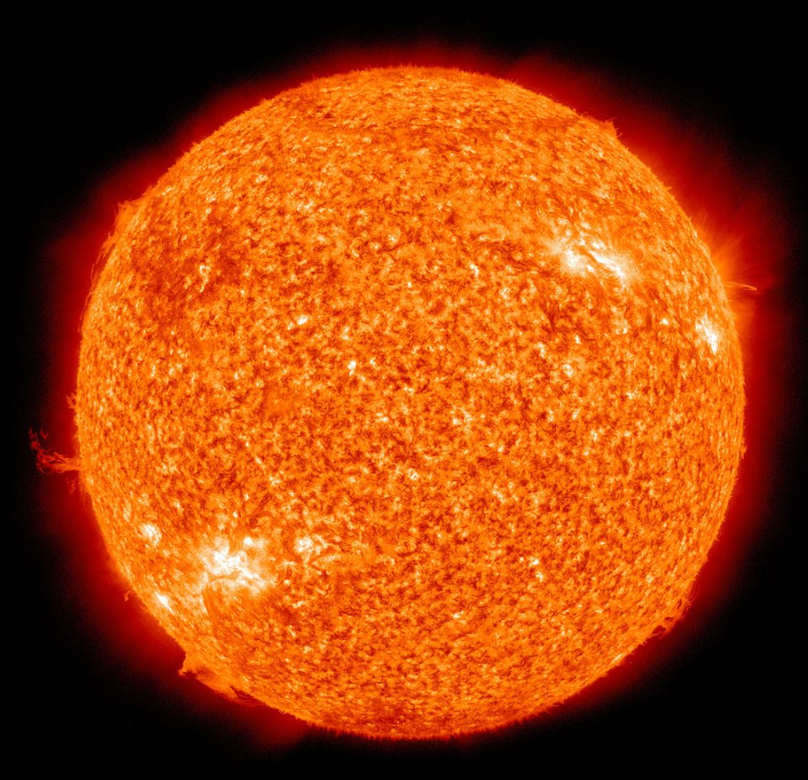 Our sun, photographed at 304 angstroms by the Atmospheric Imaging Assembly (AIA 304) of NASA's Solar Dynamics Observatory (SDO). - Image Credit:  NASA/SDO (AIA) via Wikimedia Commons