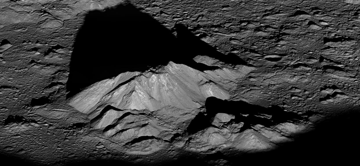 Mountain peak in Tycho crater on the Moon could be a future mining prospect. - Image Credit: NASA / GSFC / Arizona State University via Wikimedia Commons