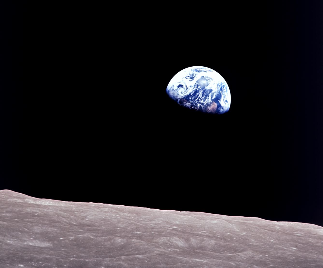 You weigh less on the moon - Image Credit:  NASA. ,  CC BY
