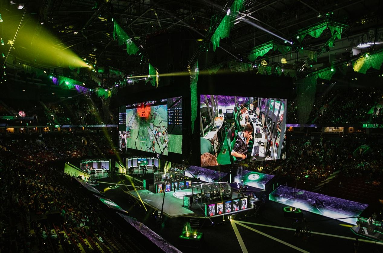 A Dota 2 tournament - Image Credit:  Dota 2 The International via Wikimedia Commons