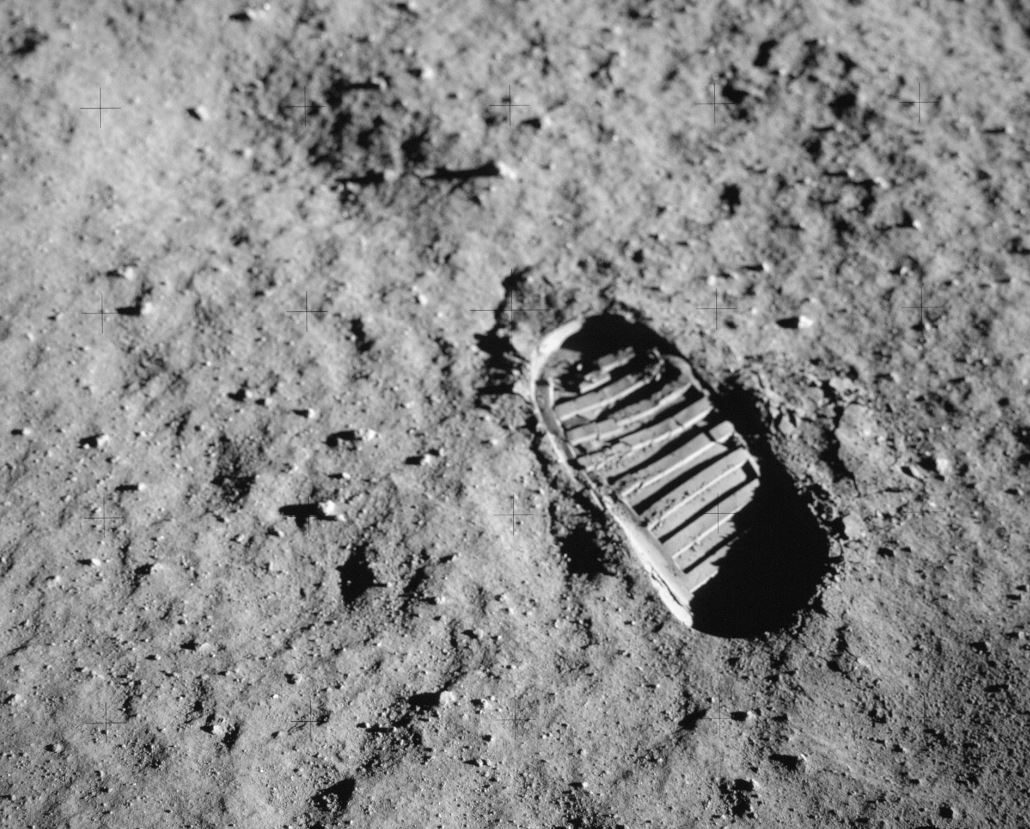 Some things need protecting from tourists: An astronaut's bootprint from the Apollo 11 mission, the first to land people on the Moon. - Image Credit:  NASA