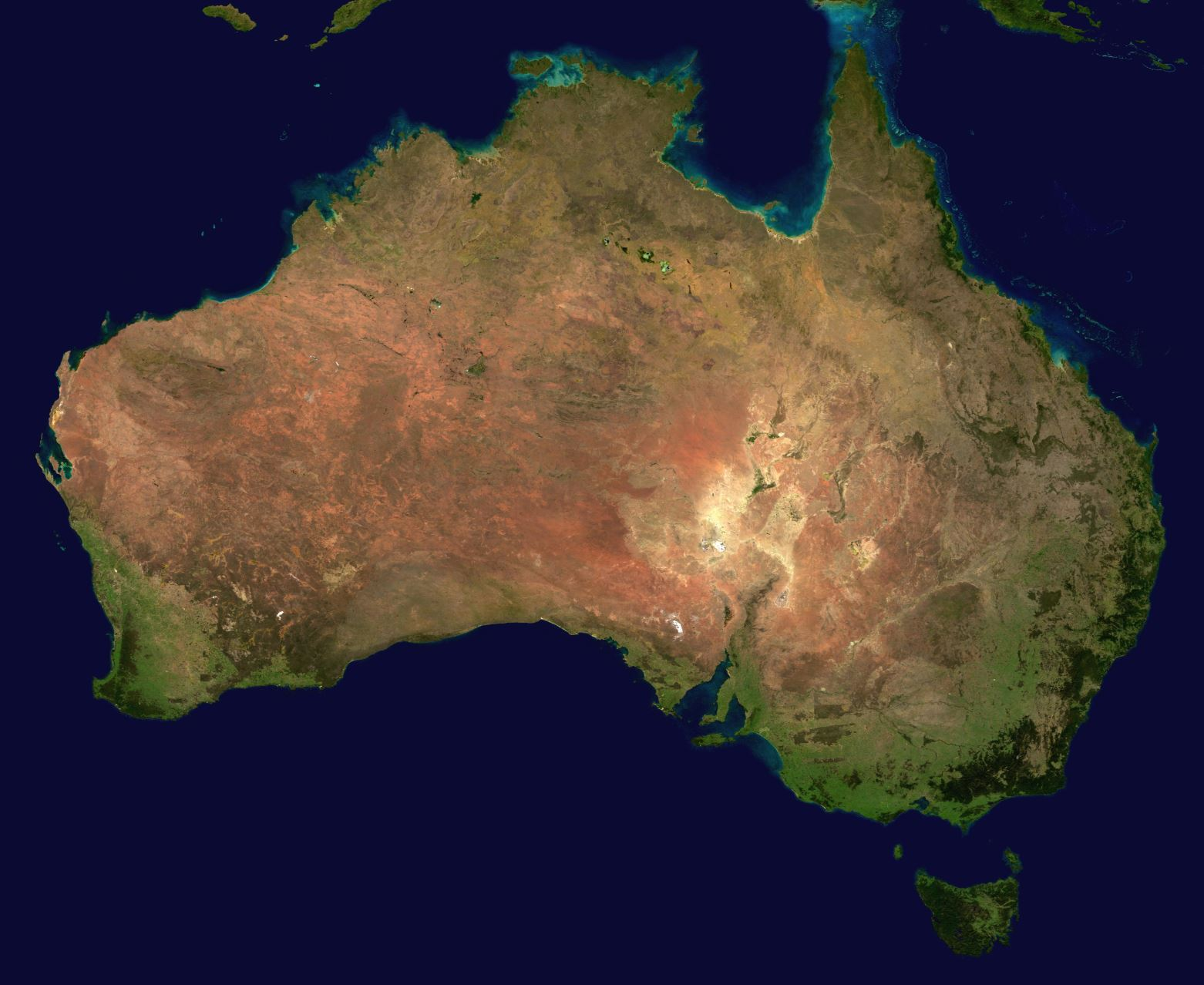 Australia from space - Image Credit:  Reto Stöckl / NASA Goddard Space Flight Center via Wikimedia Commons