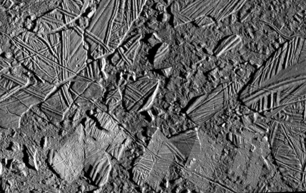 Chaos regions on Europa's trailing hemisphere. - Image Credit: NASA/JPL