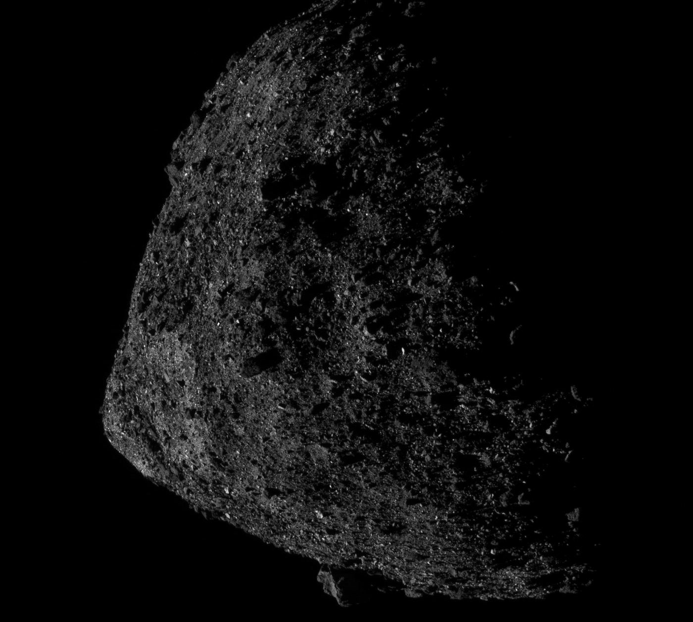 This is the Closest OSIRIS-REx has Gotten to Bennu. A mere 680 Meters Above the Asteroid!