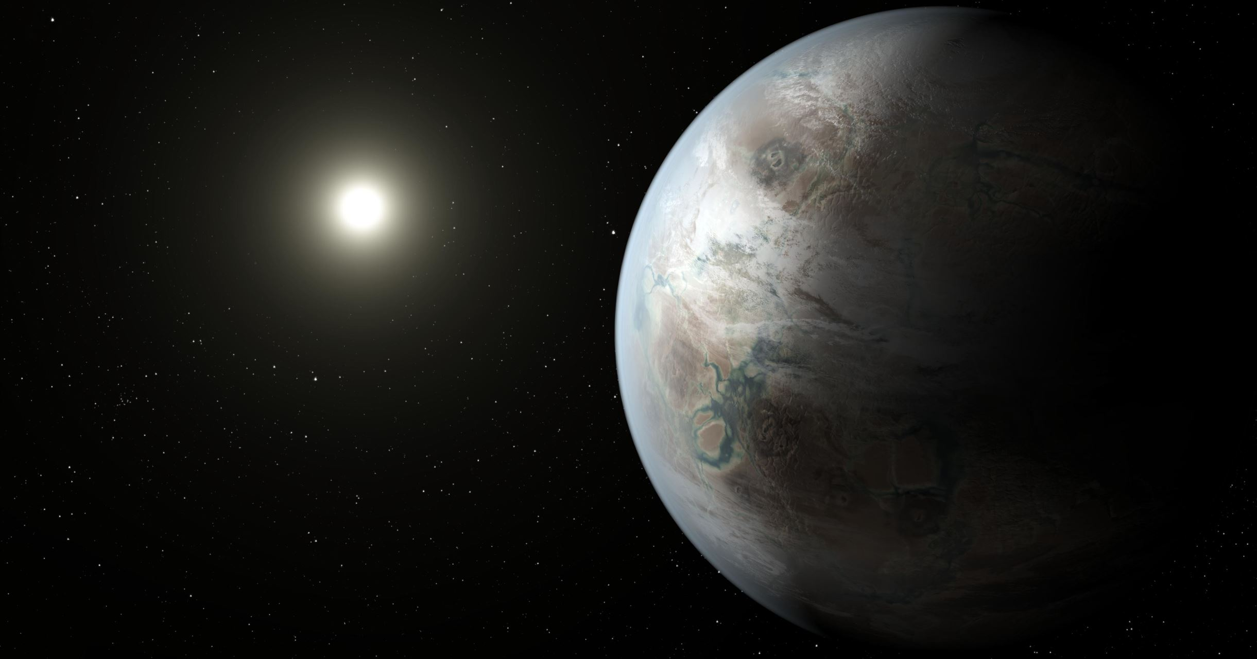 An artist's illustration of an exoplanet. - Image credit: NASA