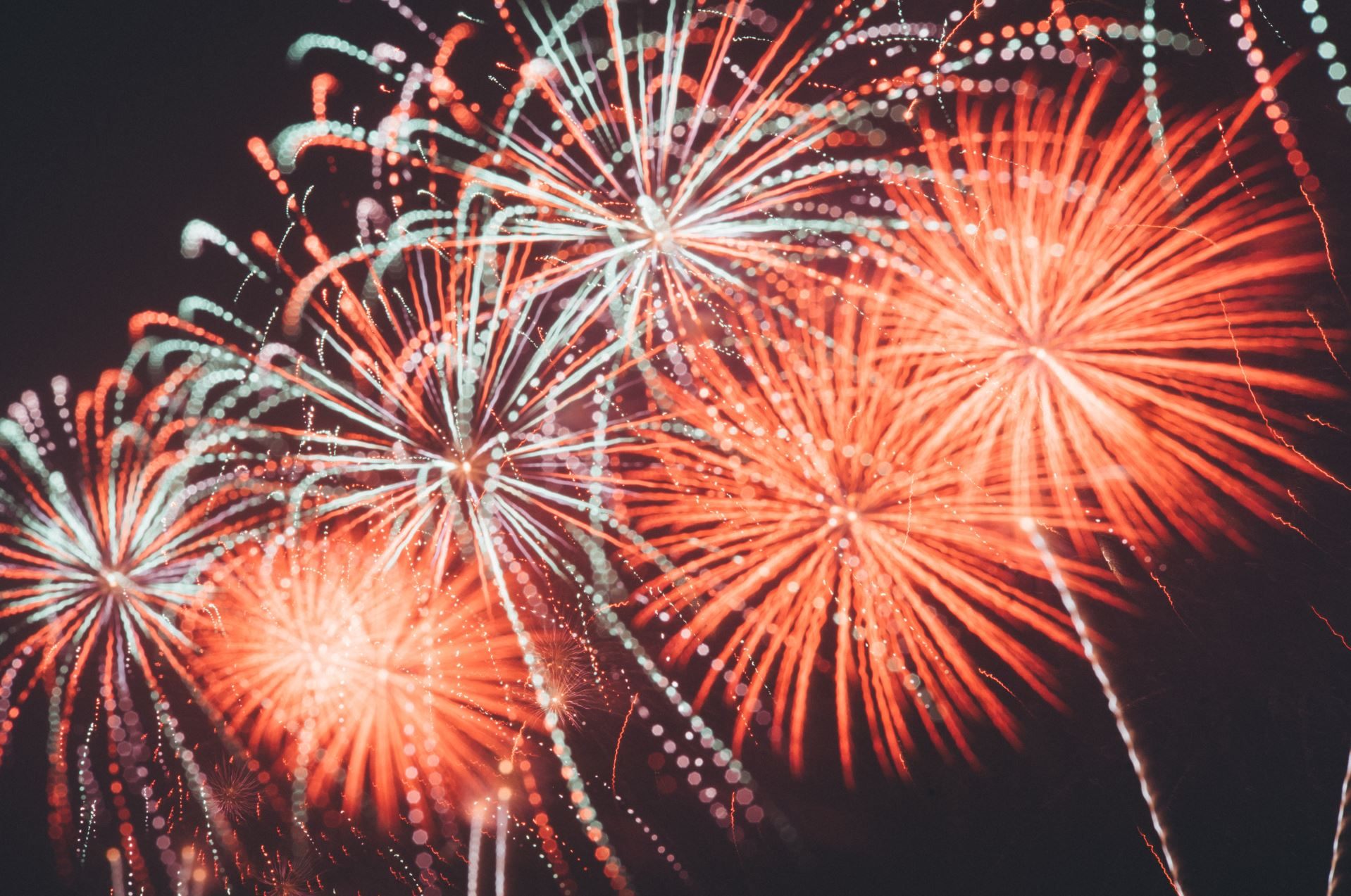 Fireworks are a class of explosive pyrotechnic devices that commonly come in around seven colors.- Image Credit:  Joseph Chan via Unsplash