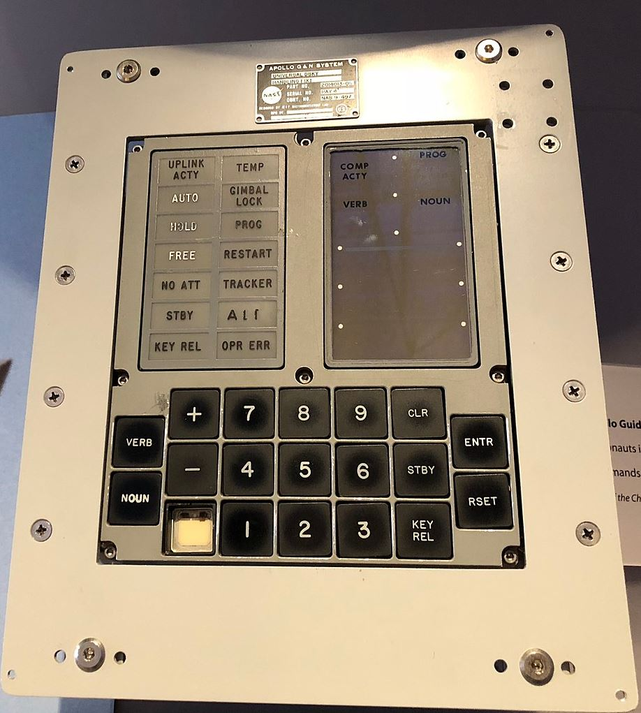 Apollo Guidance Computer (AGC) - Image Credits:  ArnoldReinhold via Wikimedia Commons