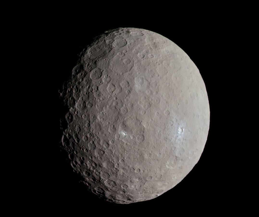 Ceres – a one-time ocean world, according to NASA - Image Credits:  Justin Cowart via Wikimedia Commons
