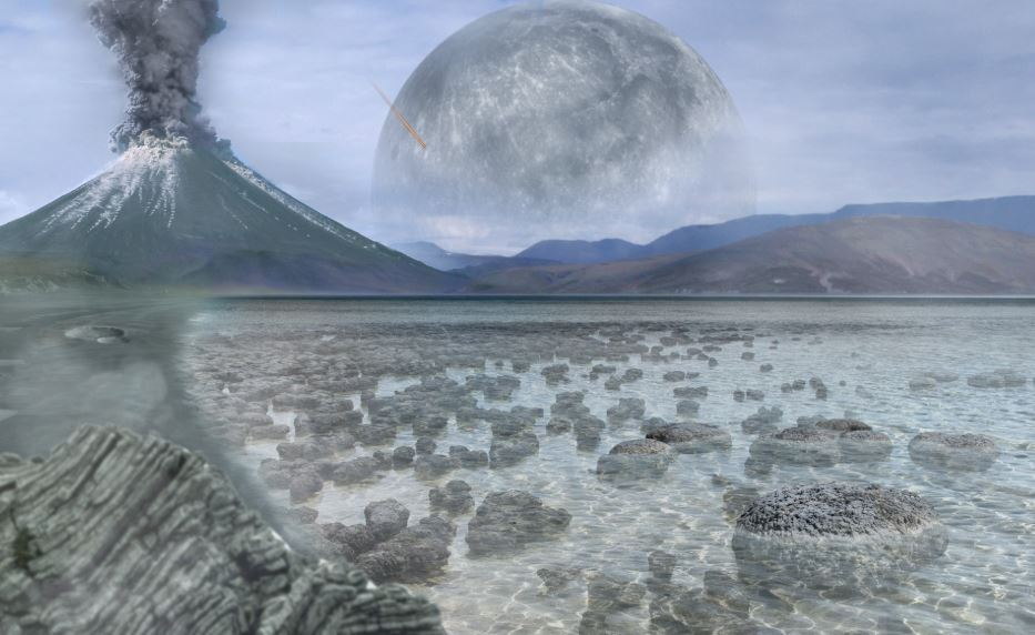 An artist's impression of the Archean Eon. - Image Credit:  Tim Bertelink via Wikimedia Commons
