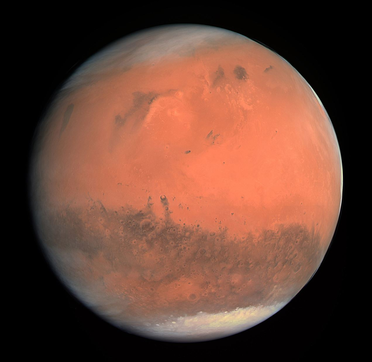 True color image of Mars - Image Credit:  ESA - European Space Agency & Max-Planck Institute for Solar System Research for OSIRIS Team ESA/MPS/UPD/LAM/IAA/RSSD/INTA/UPM/DASP/IDA via Wikimedia Commons