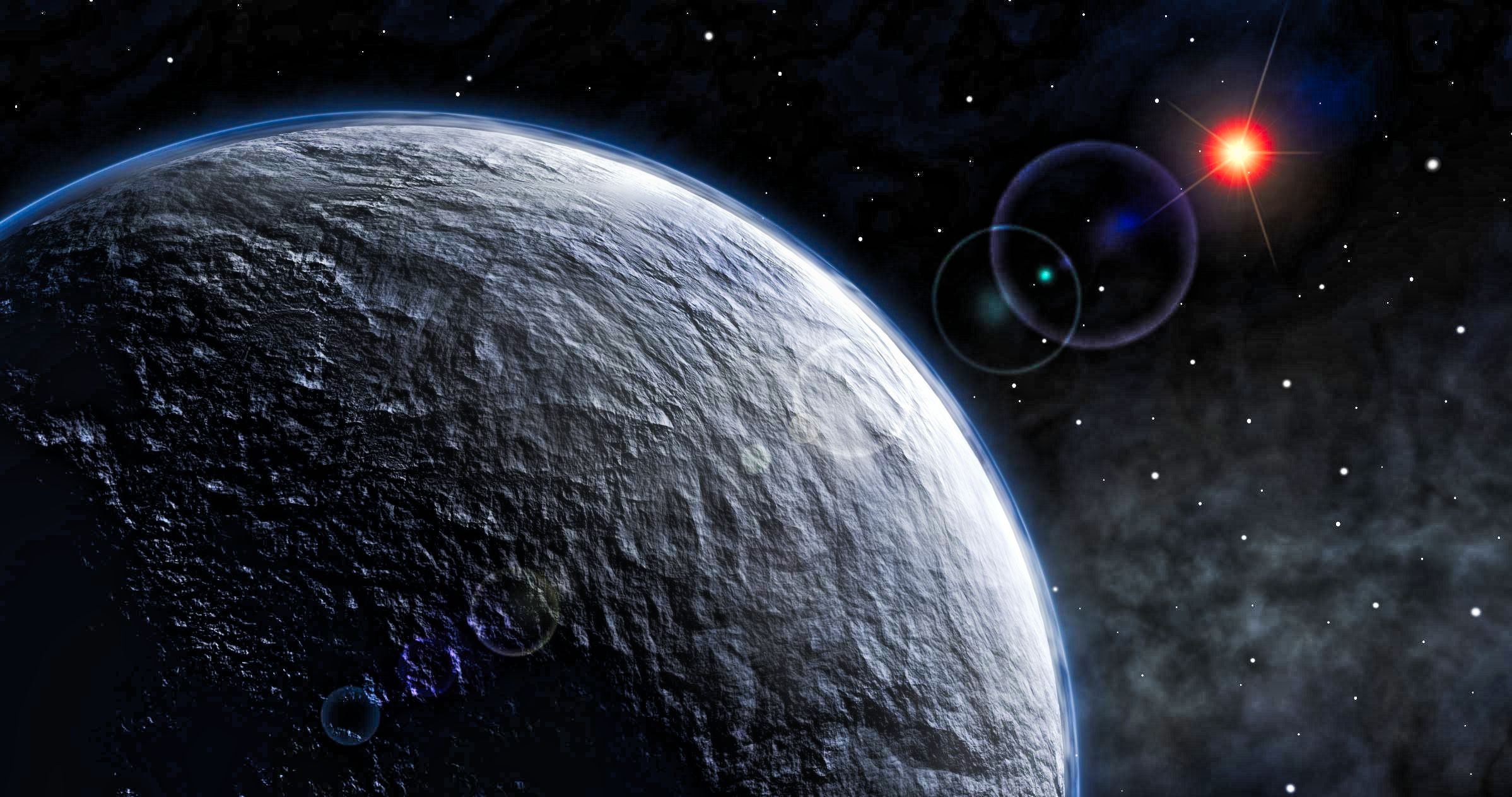 Snowball / icy exoplanet - Image Credit  ESO  -  HDR tune by Universal-Sci  -  CC BY 4.0
