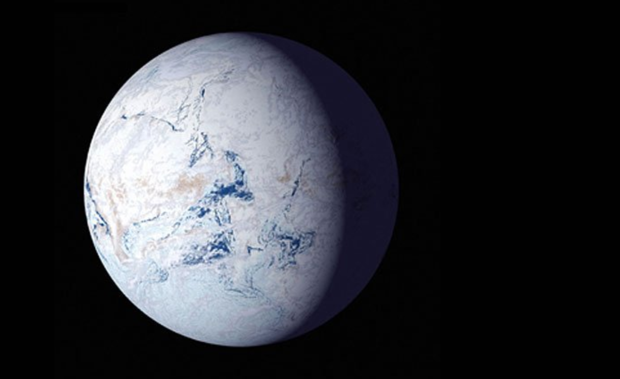 Snowball Earth - Image Credit: NASA