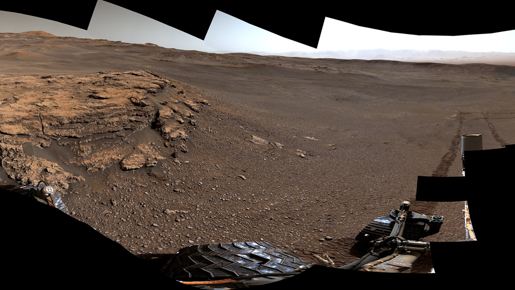 "This panorama of a location called ""Teal Ridge"" was captured on Mars by the Mast Camera, or Mastcam, on NASA's Curiosity rover on June 18, 2019, the 2,440th Martian day, or sol, of the mission. - Image Credit: NASA/JPL-Caltech/MSSS"