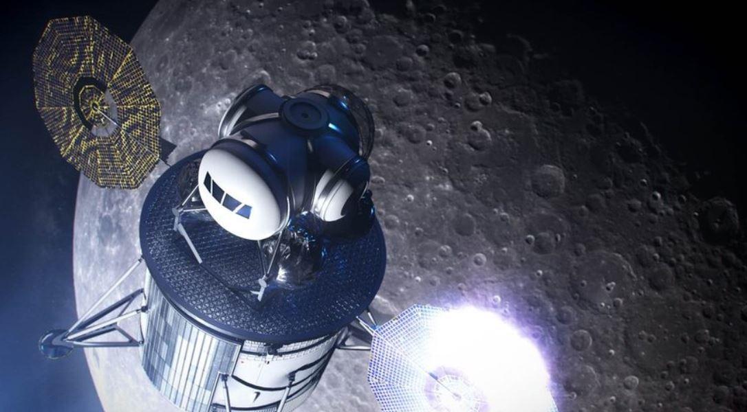 Artist's illustration of Project Artemis lunar lander. - Image Credits: NASA