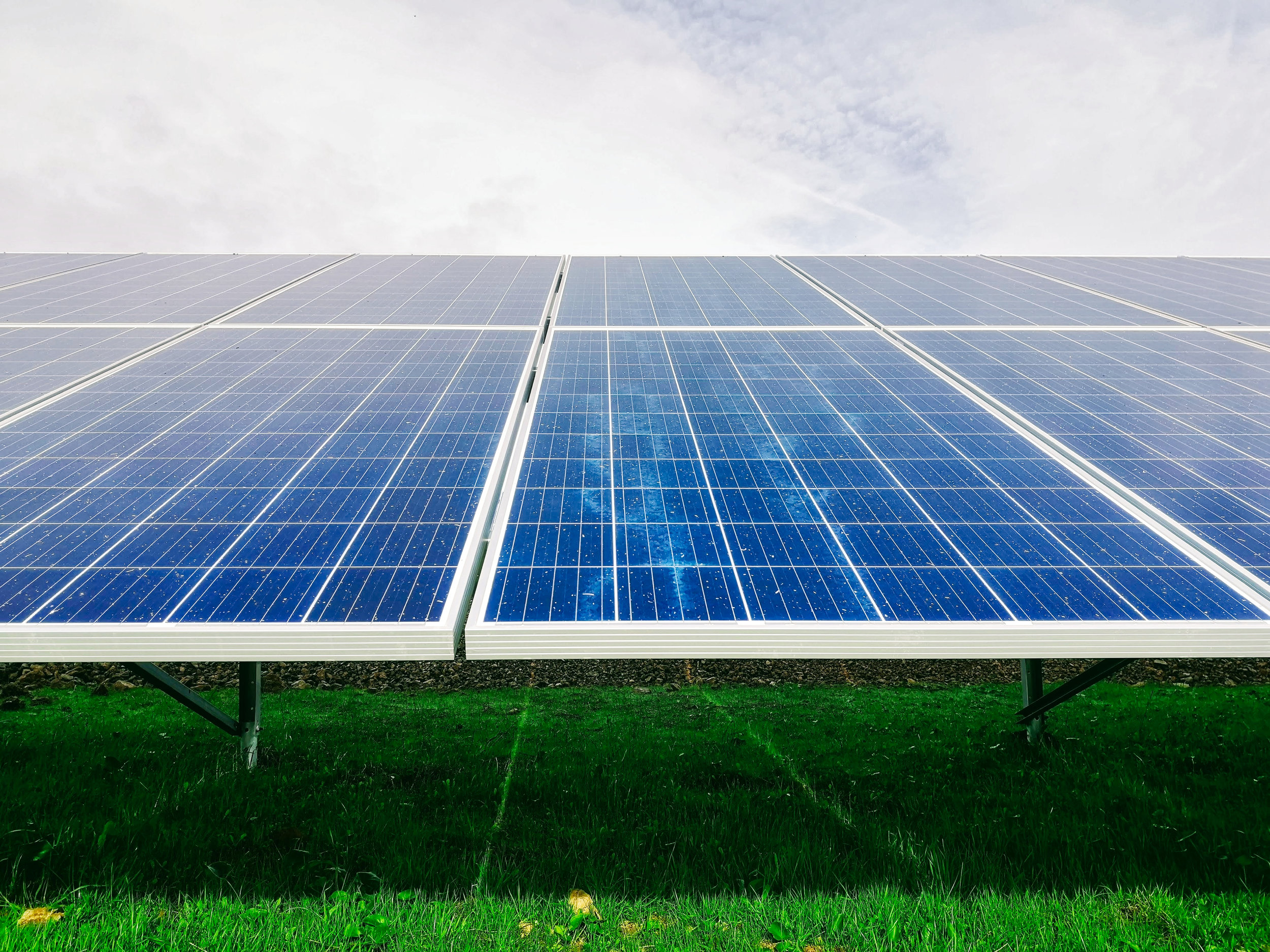 Conventional silicon based solar panels - Image Credit:  Mariana Proença via Unsplash  -  HDR tune by Universal-Sci