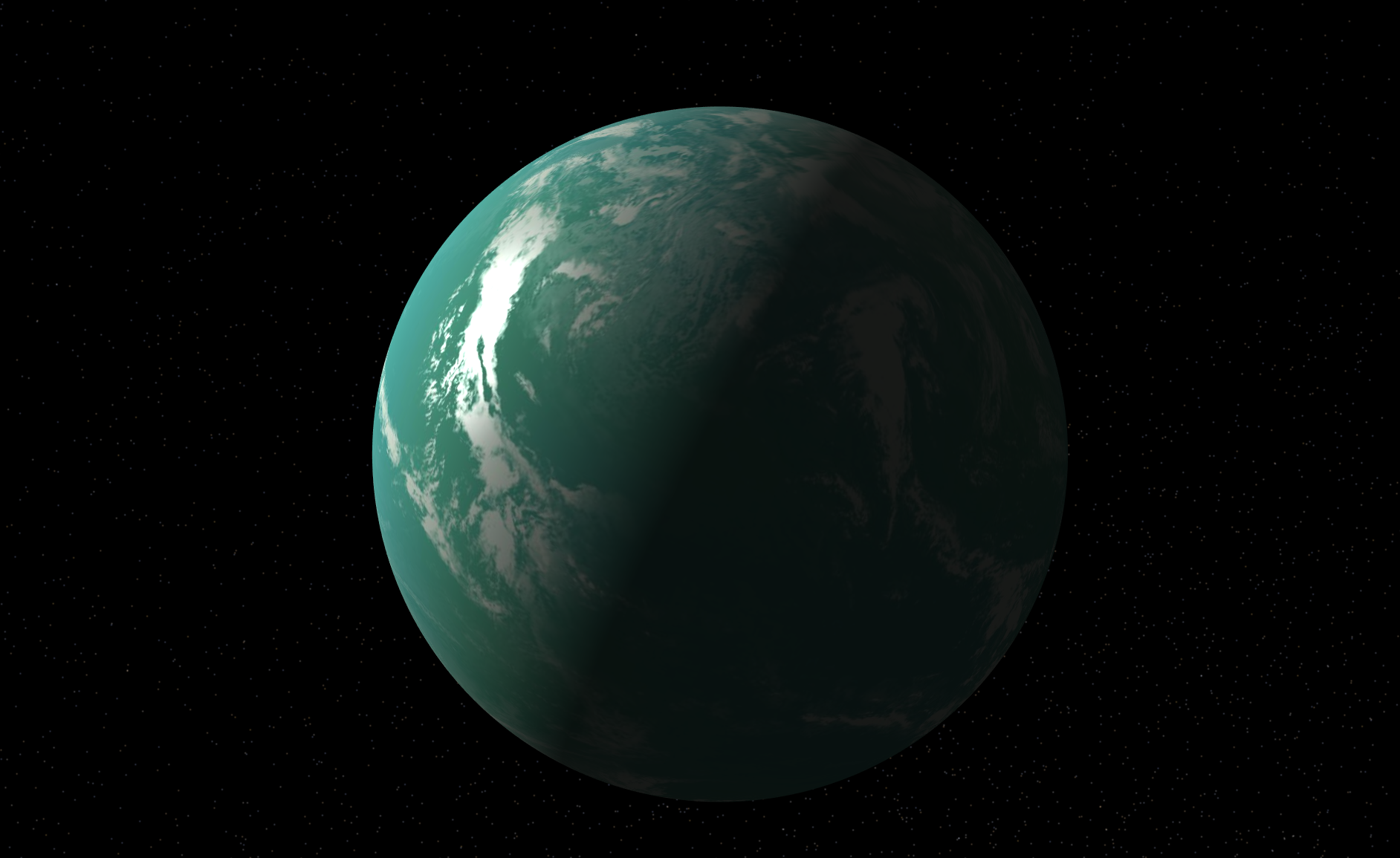 An artist's impression of an alien world covered in a super ocean - Image and banner image credits:  NASA exoplanet exploration