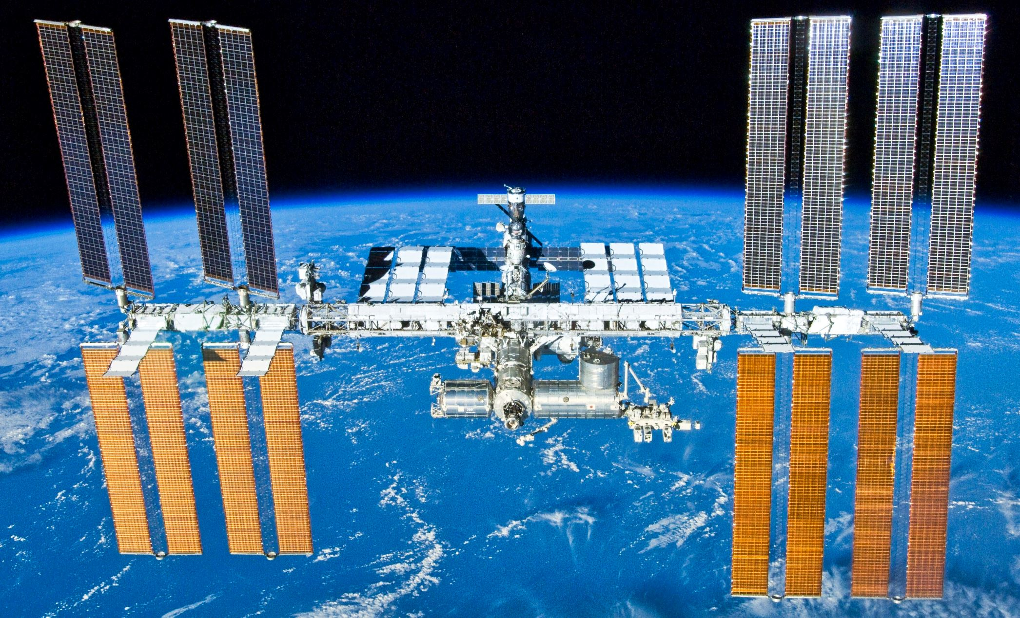 Was the International Space Station the scene of space's first crime? - Image Credit:  NASA/Crew of STS-132 via Wikimedia Commons  - HDR tune by  Universal-Sci