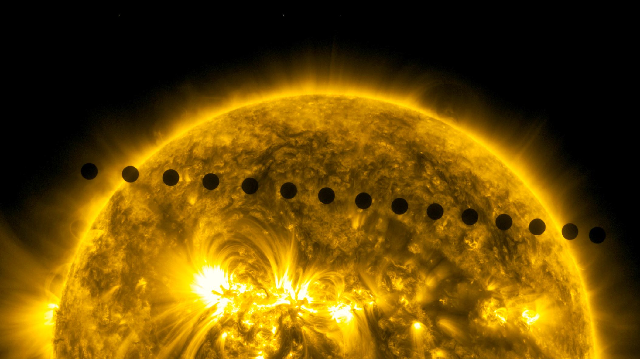 On June 5-6, 2012, NASA's Solar Dynamics Observatory collected images of one of the rarest predictable solar events: the transit of Venus across the face of the Sun. - Image Credits:  NASA/SDO, AIA  - HDR tune by Universal-Sci