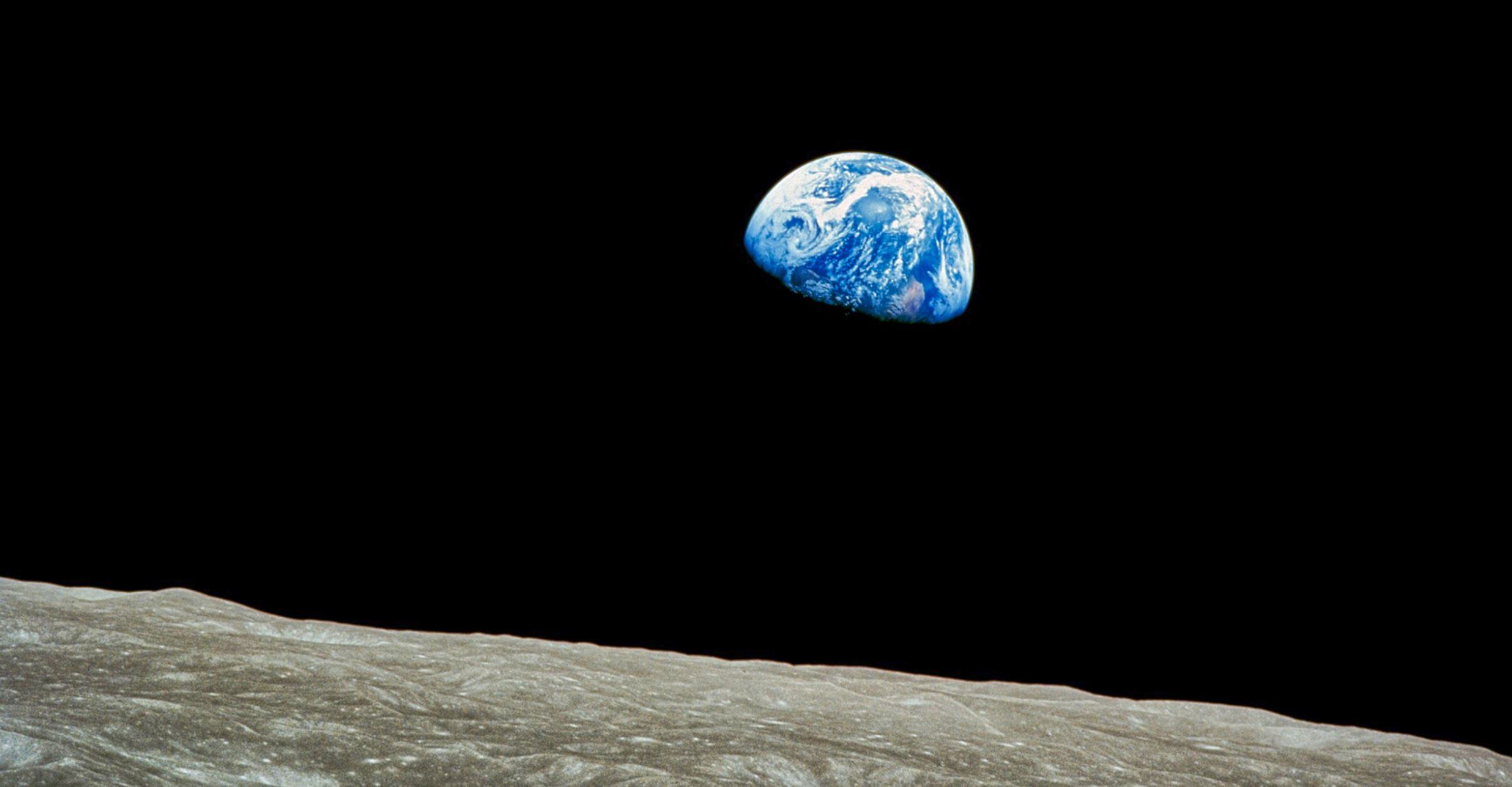 The rather famous earthrise picture - Image Credit:  NASA/Bill Anders via Wikimedia Commons  - HDR tune by  Universal-Sci