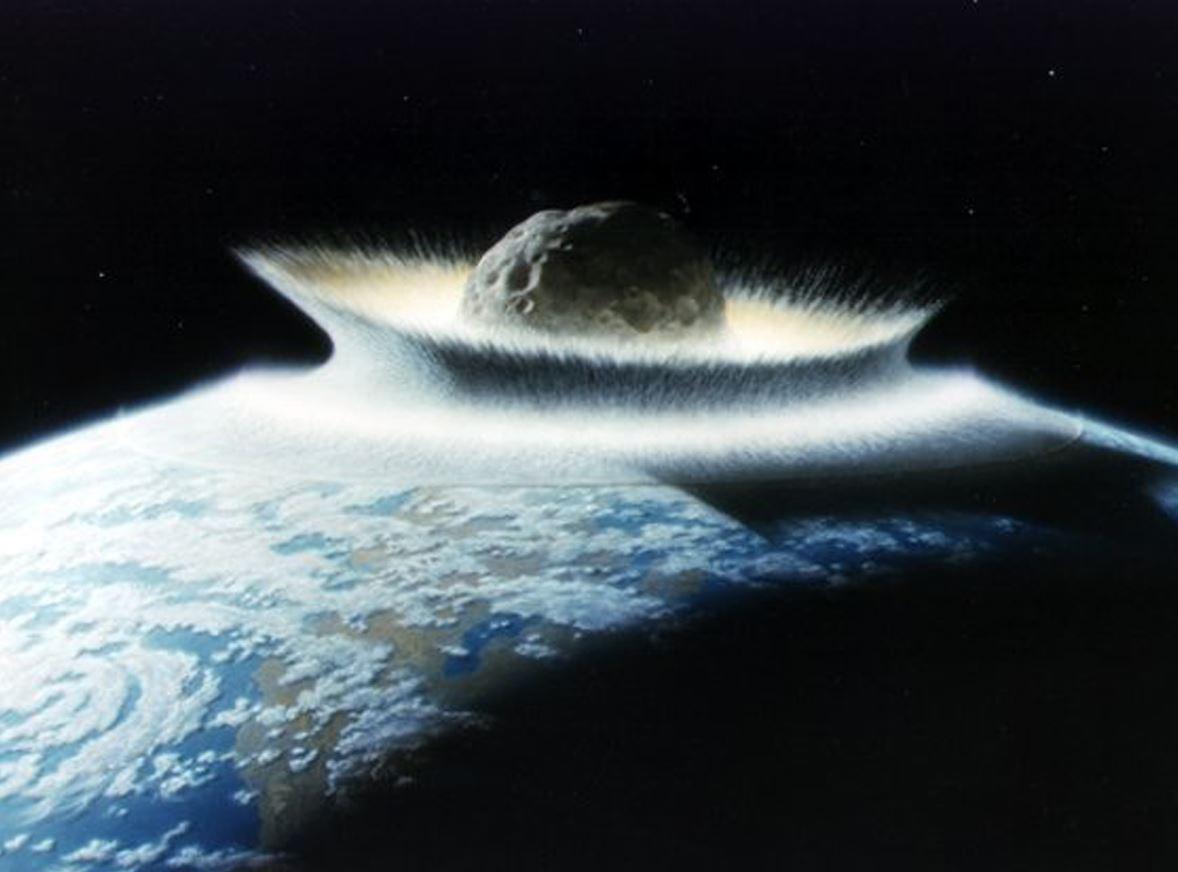 Artist impression of a giant asteroid impact - Image Credit:  NASA/Don Davis via nasa.gov