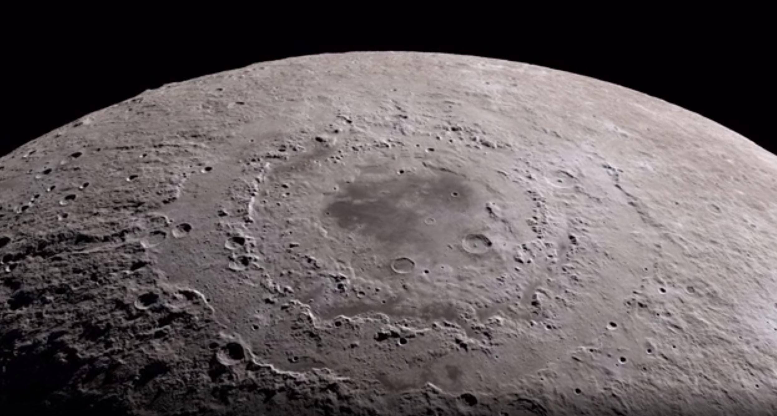 The south pole of the moon - Image Credit  NASA via Scientific Visualization Studio