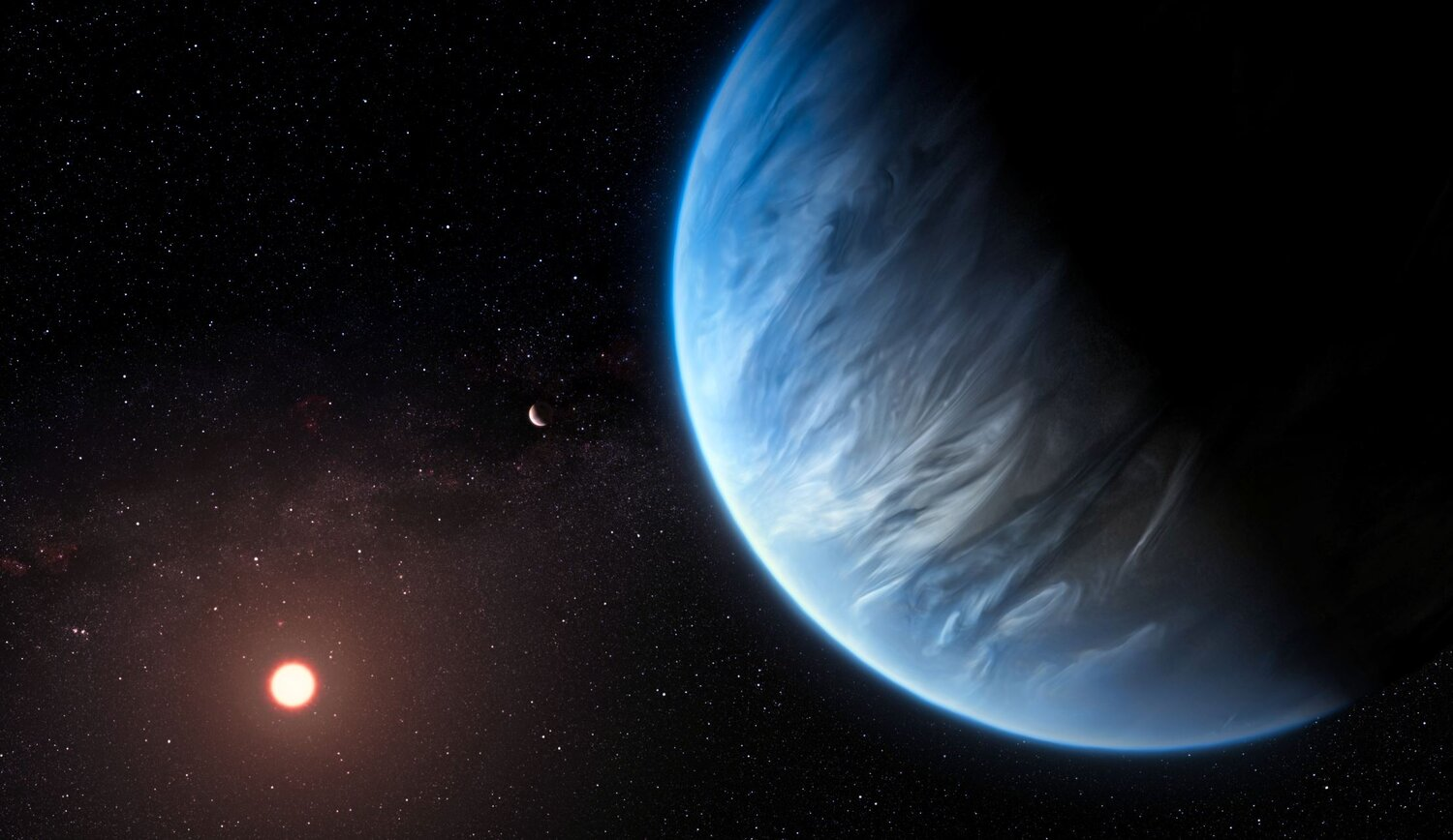An artist's impression of the unique exoplanet - Image Credits:  ESA/Hubble,  M. Kornmesser - HDR tune by  Universal-Sci