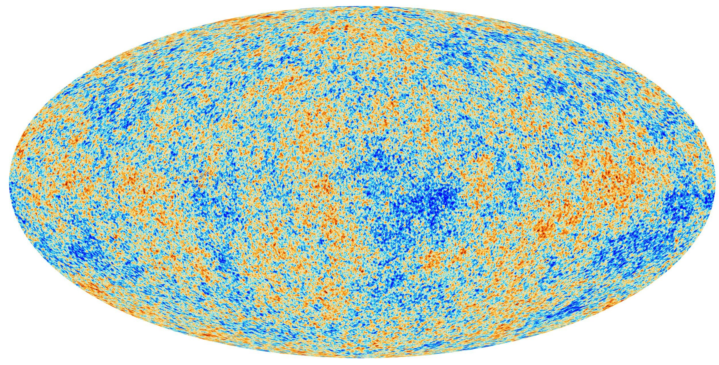 Ripples in the cosmic microwave background reveal the presence of dark matter. - Image Credits:  ESA, Planck Collaboration  (image is also used as banner image for this article)