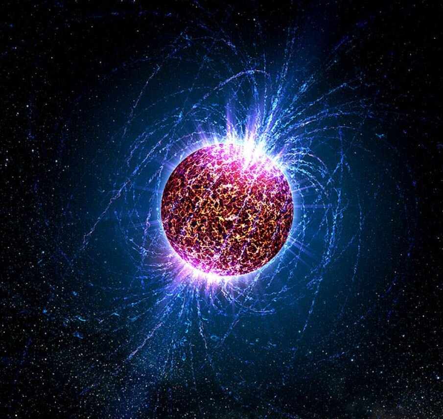 An artist's impression of a neutron star - Image Credit:  Acasey Reed- Penn State University via Wikimedia Commons