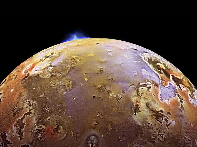 Giant volcanic explosion on Io - Image Credit: NASA's Goddard Space Flight Center Cover image courtesy of NASA/JPL/University of Arizona