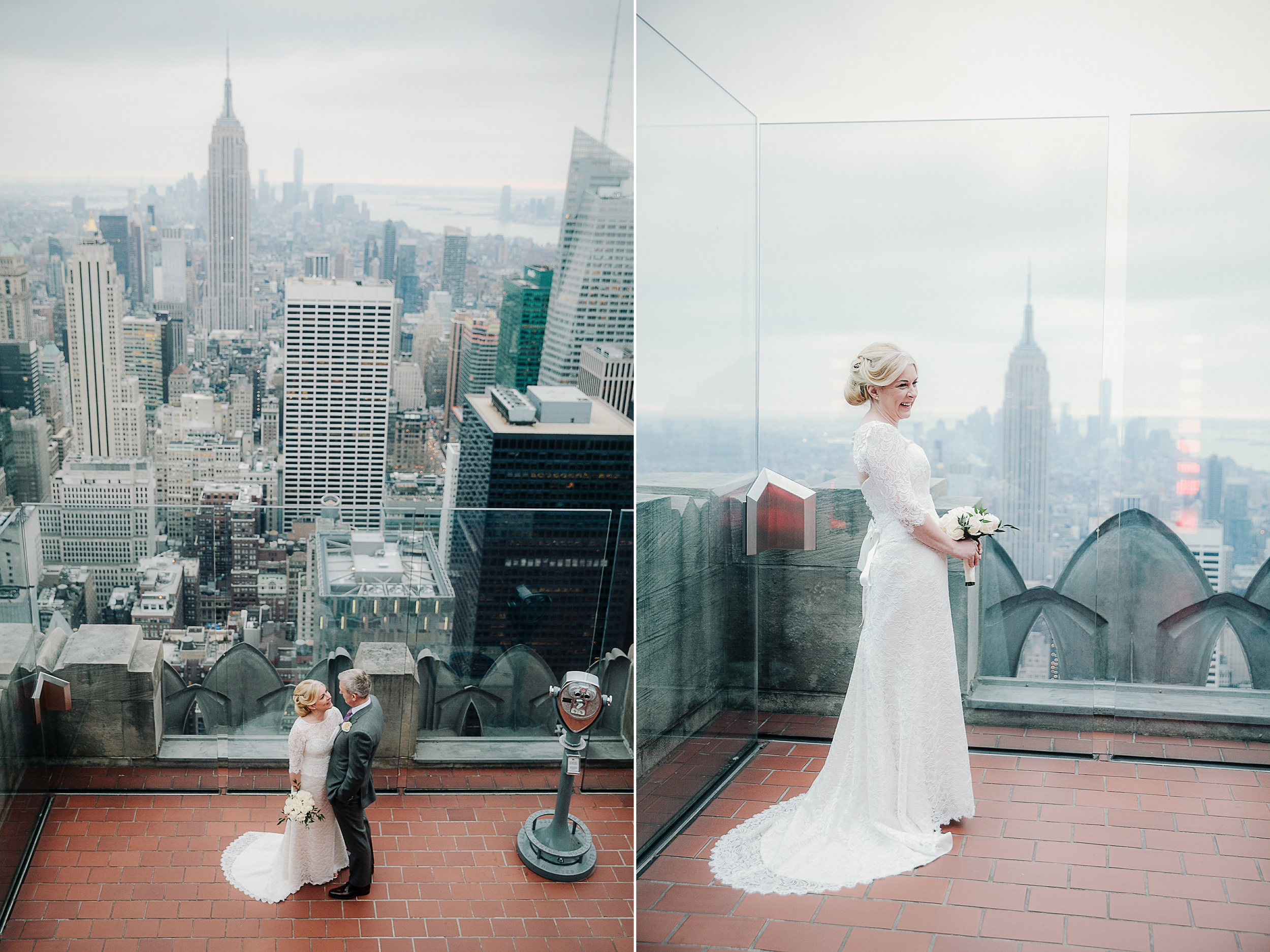 Top of the Rock intimate NYC wedding by Tanya Isaeva Photography