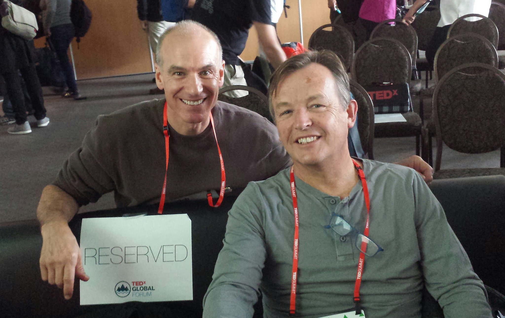 Bob Vasile with TED Curator Chris Anderson at the inaugural TEDSummit in Banff, Alberta in 2016