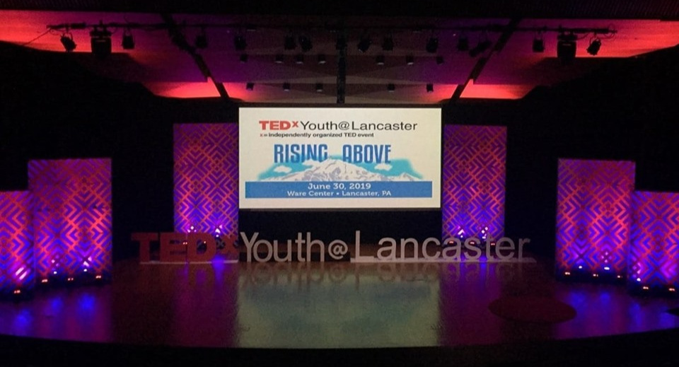 The TEDxYouth@Lancaster 2019 stage
