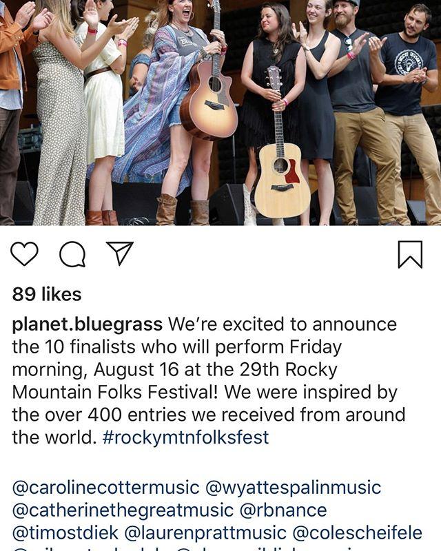 WHOA. #planetbluegrass #folksfest #finalist