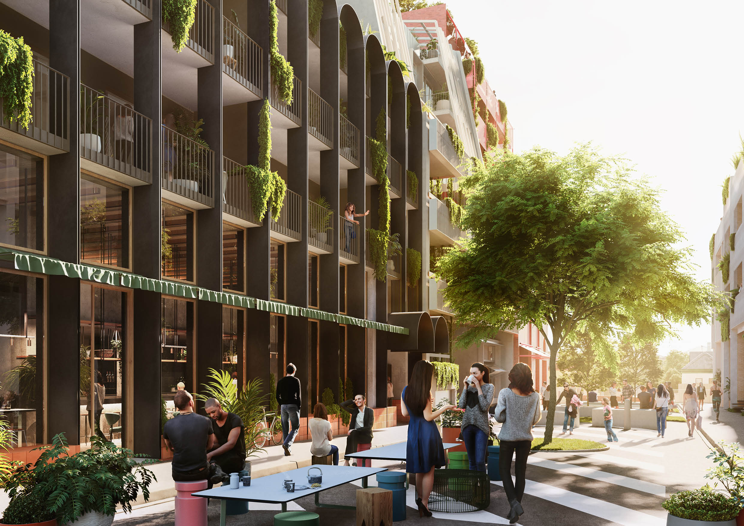 Skye House will look onto the pedestrianised and activated Duckett Street pocket park
