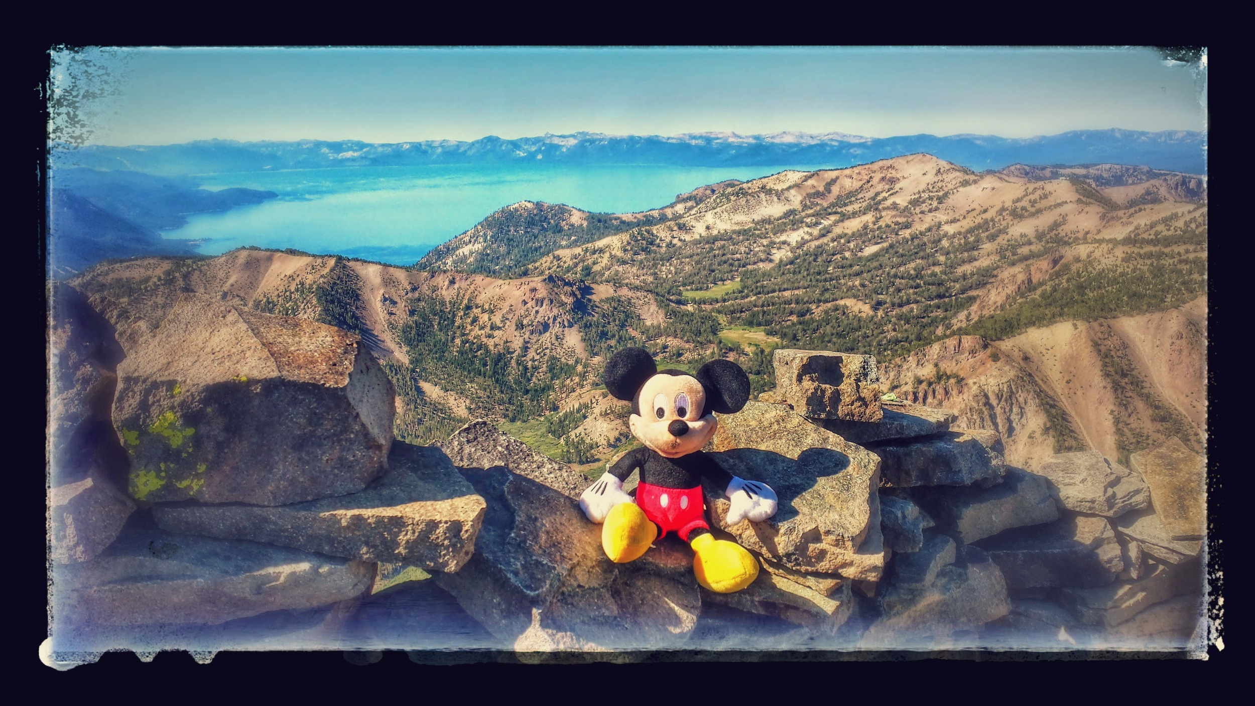 Mickey Mouse accompanies me on every hike to remind me of all the special Make-A-Wish Kids all around the world! Never take a single day for granted and never be petty. Live life to the fullest and share the love of nature!!