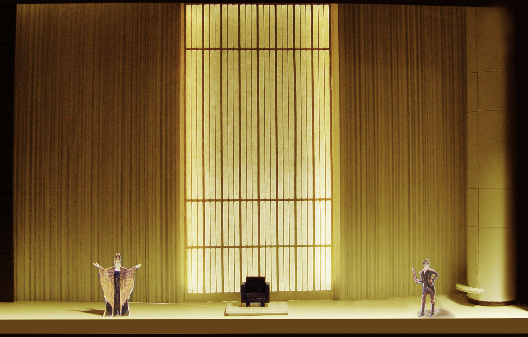 "1/4"" Scale Model        Semele  at Seattle Opera          Scenic Design by Erhard Rom"
