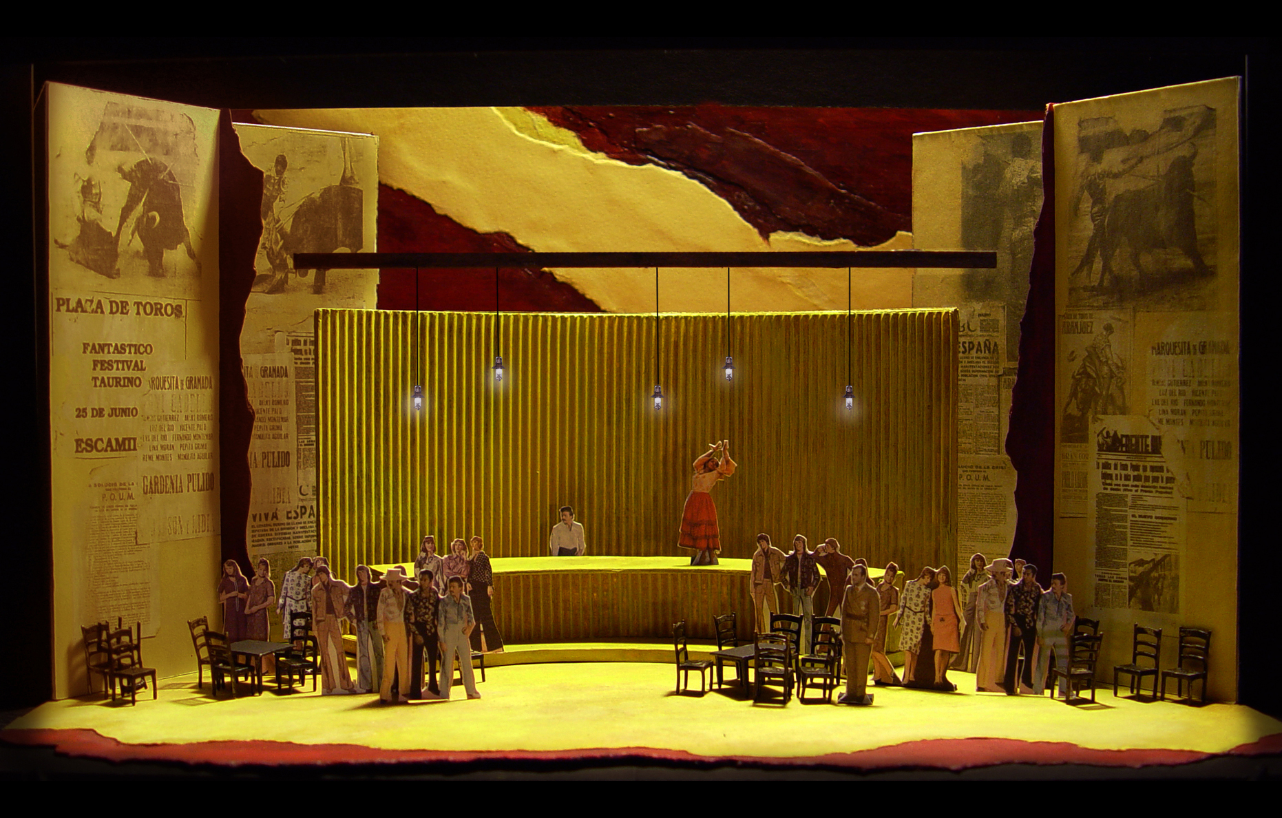 "1/4"" Scale Model           Carmen  at Minnesota  Opera          Scenic Design by Erhard Rom"