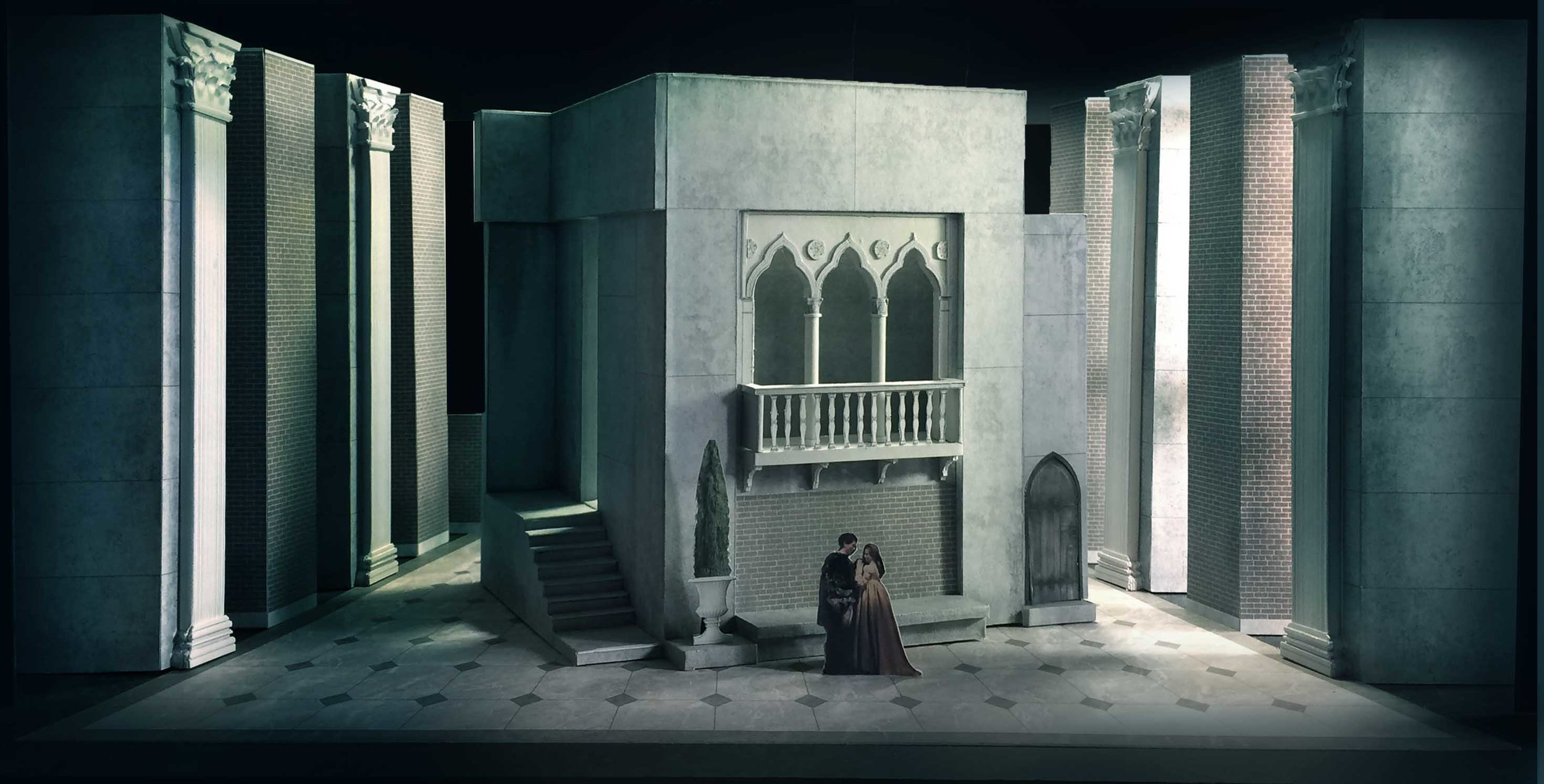 004a  act 1 sc. 2  Rigoletto 's House.jpg