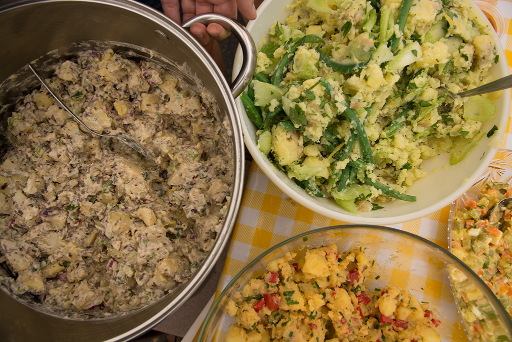Andrew's potato salad is in the top right hand corner.