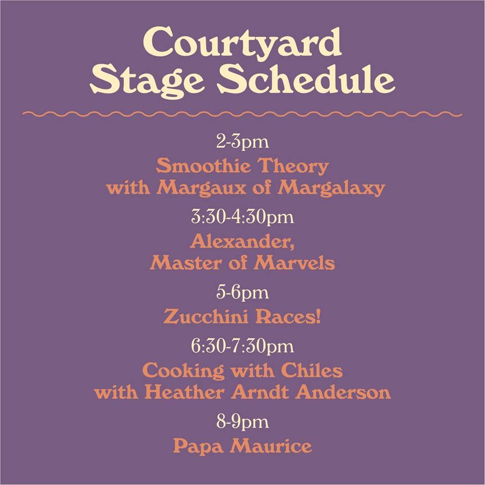 Courtyard Stage Schedule
