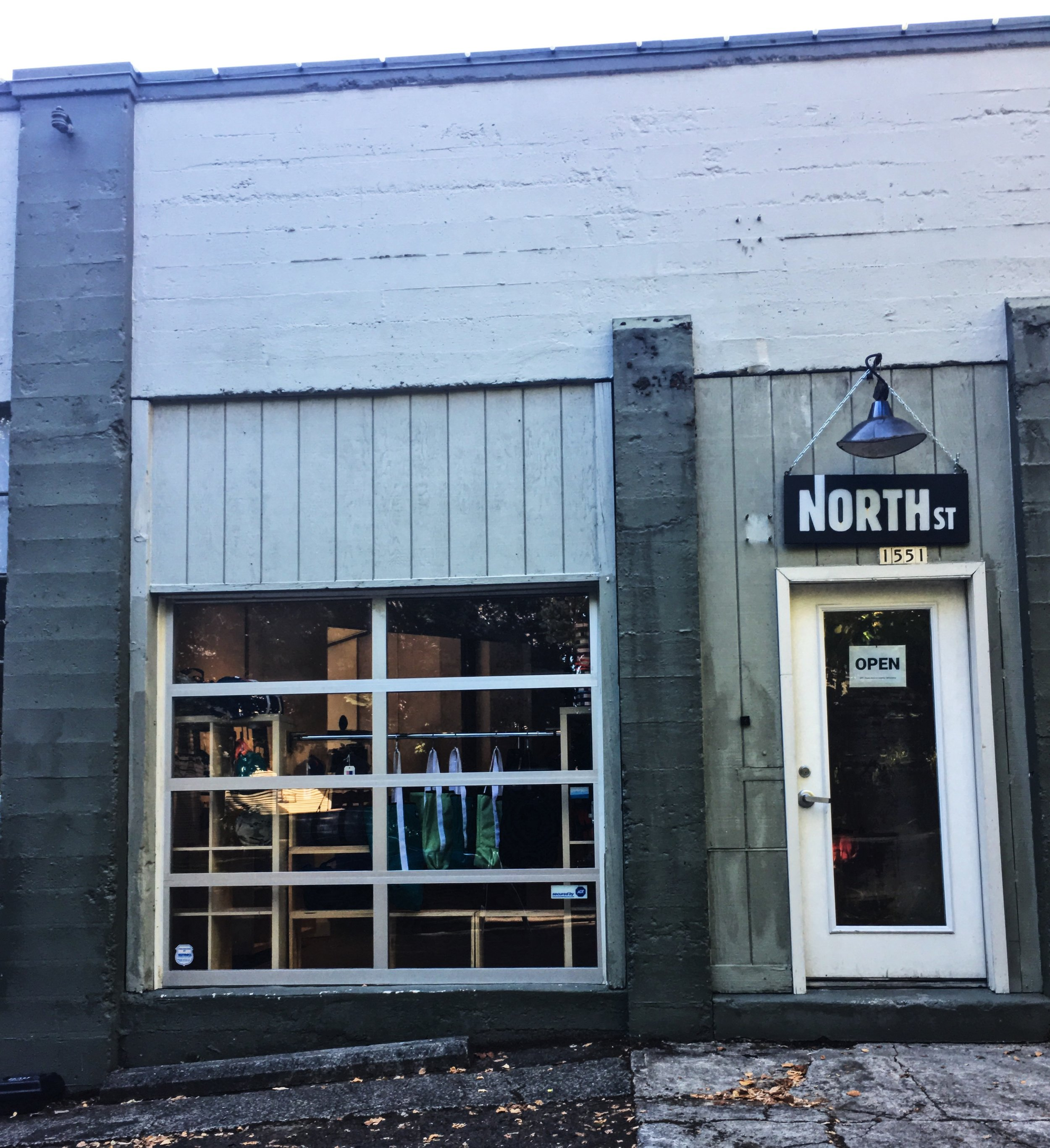 The entrance to North St.'s show room and work space.