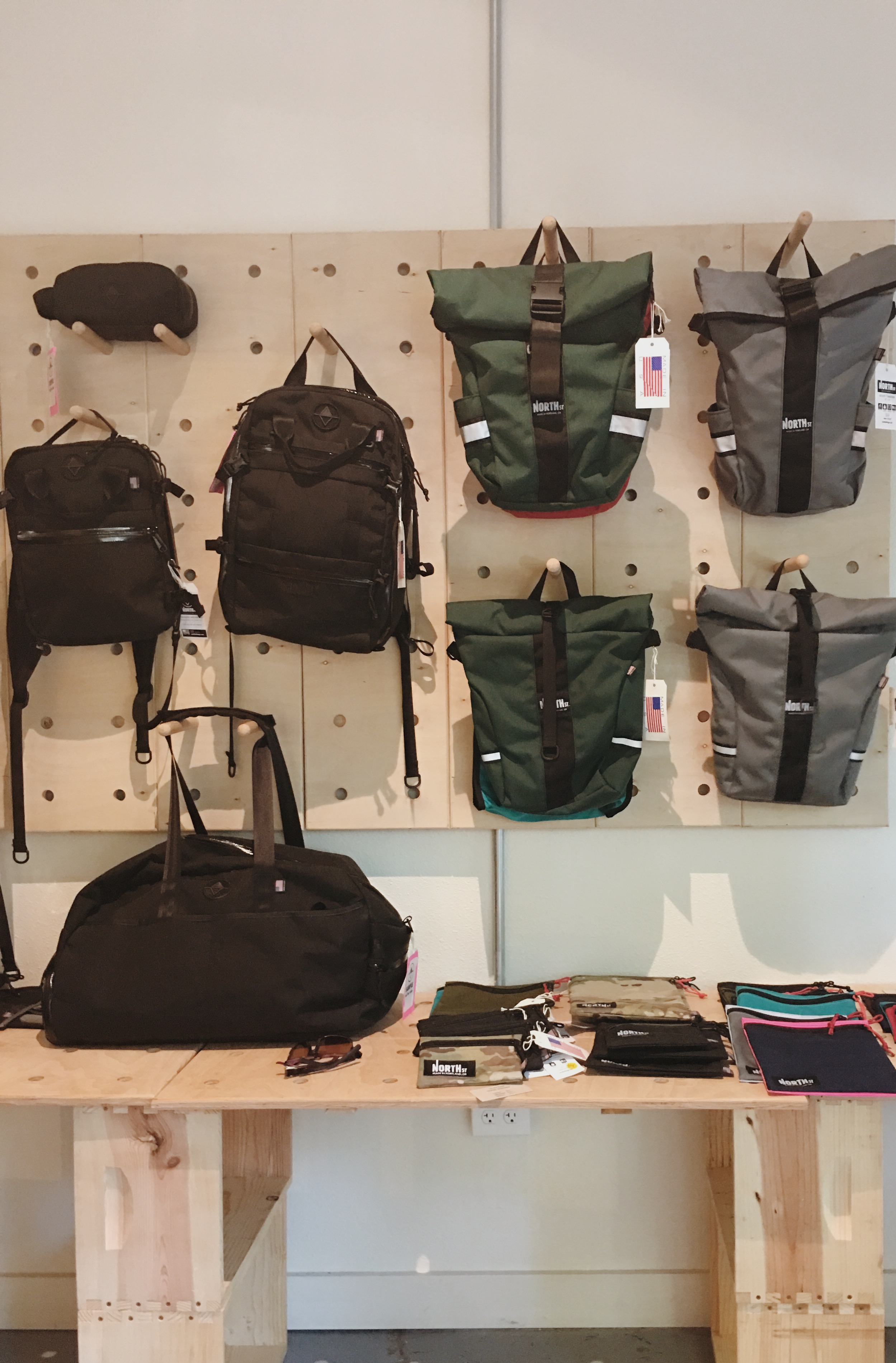 The North St. Bags show room.
