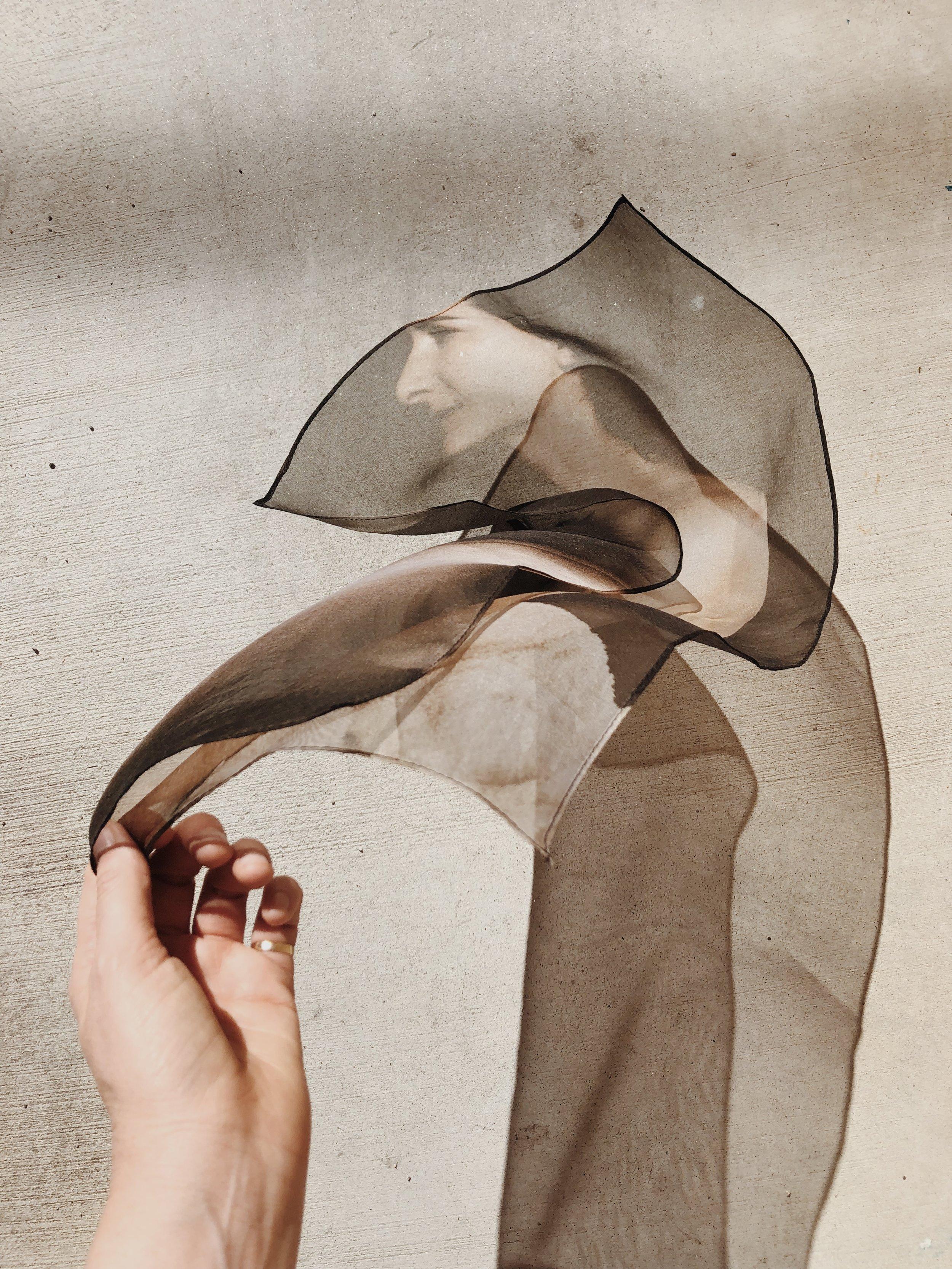 """""""I am a woman""""  Portrait on silk"""